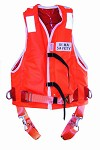 Safety harness 5010 c/w belt integrated in air jacket, with lights